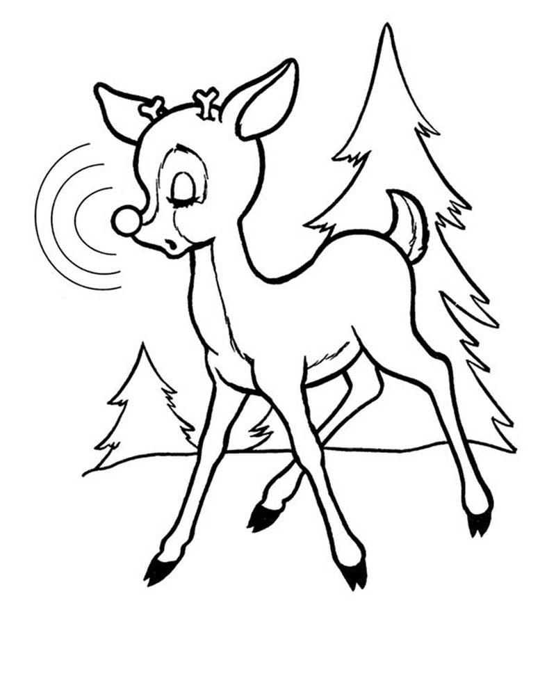 coloring pages of christmas rudolph