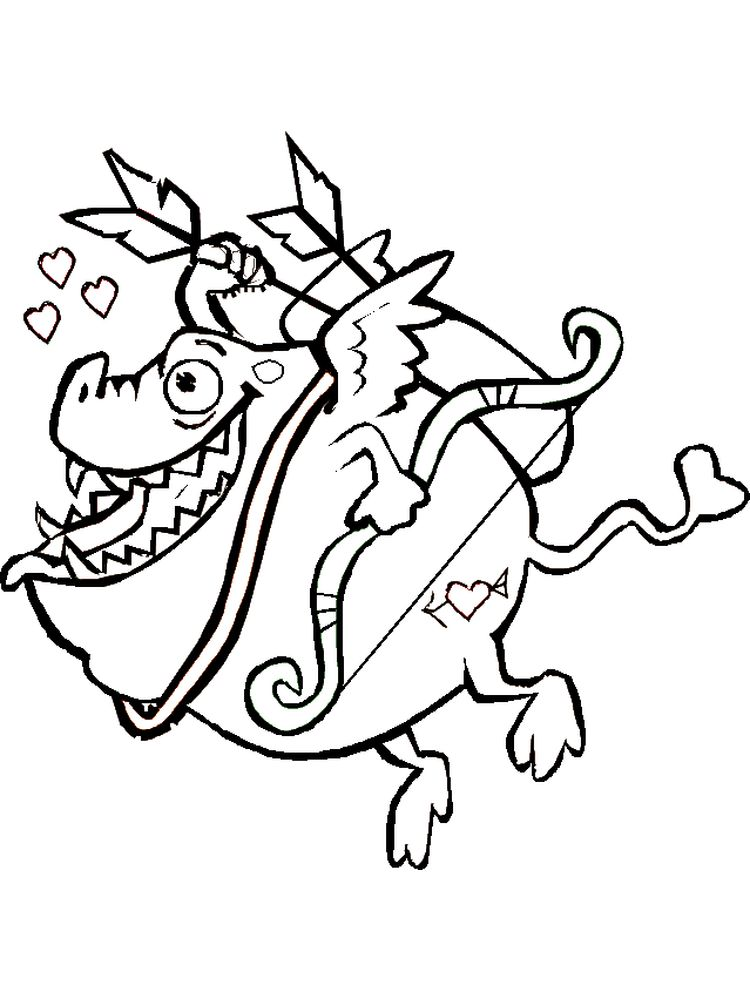 coloring pages of cupid