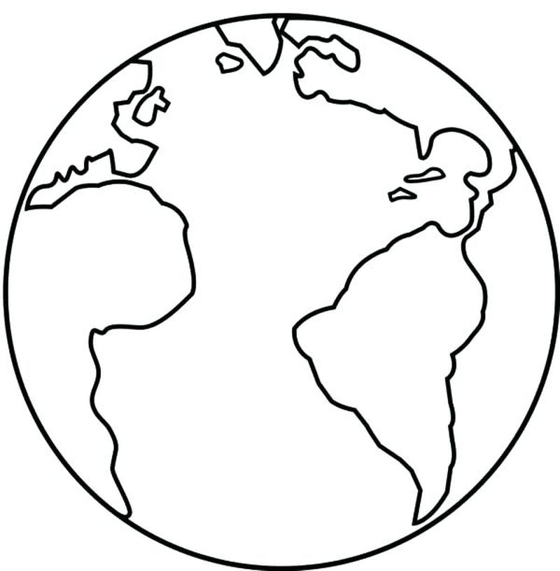coloring pages of earth printable