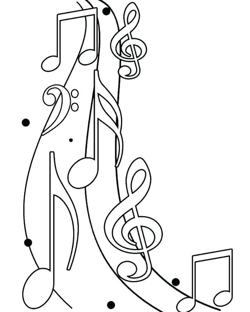 coloring pages of music symbols