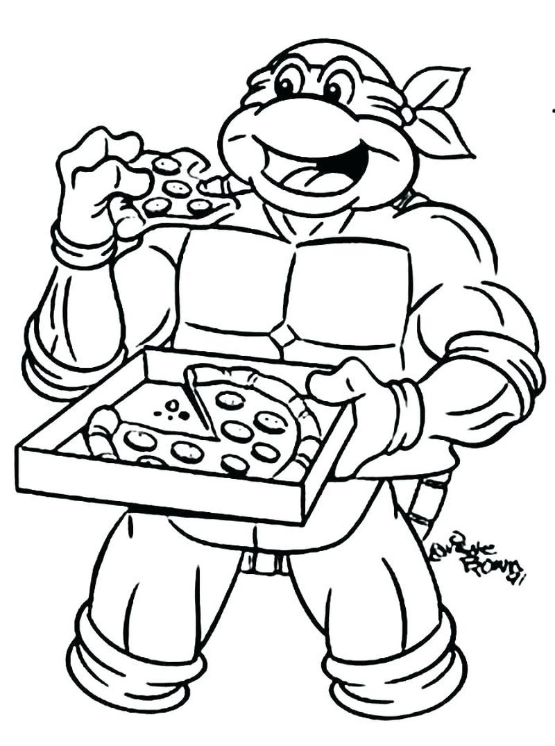 coloring pages of pizza slices