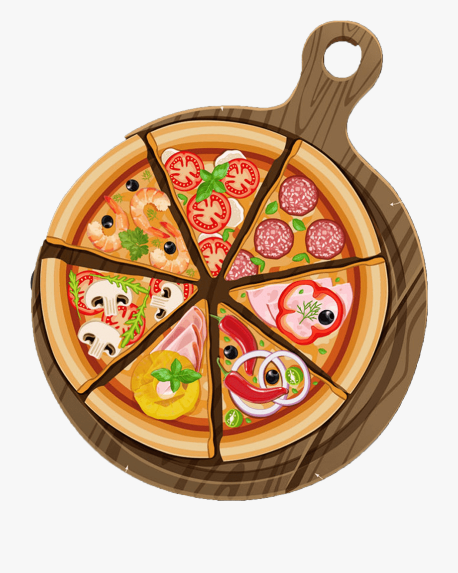 coloring pages of pizza