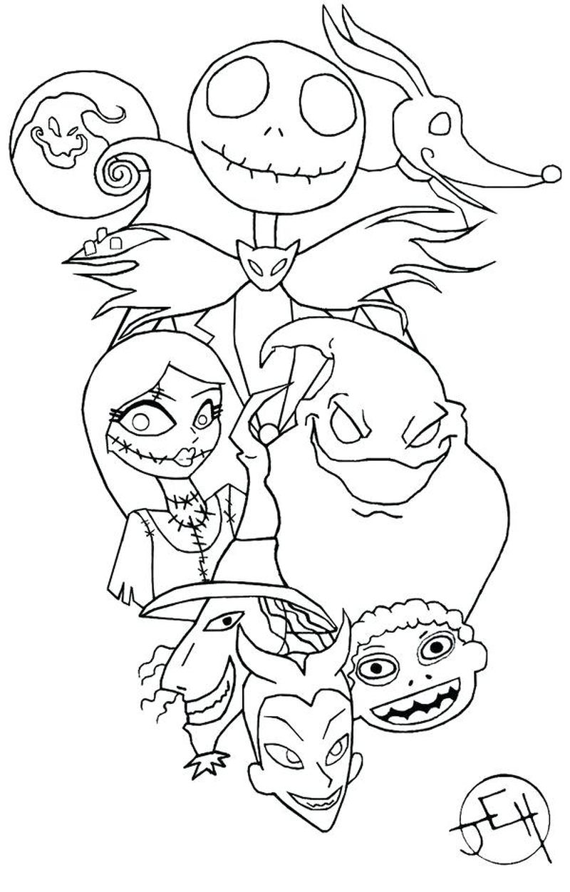 coloring pages of skeleton