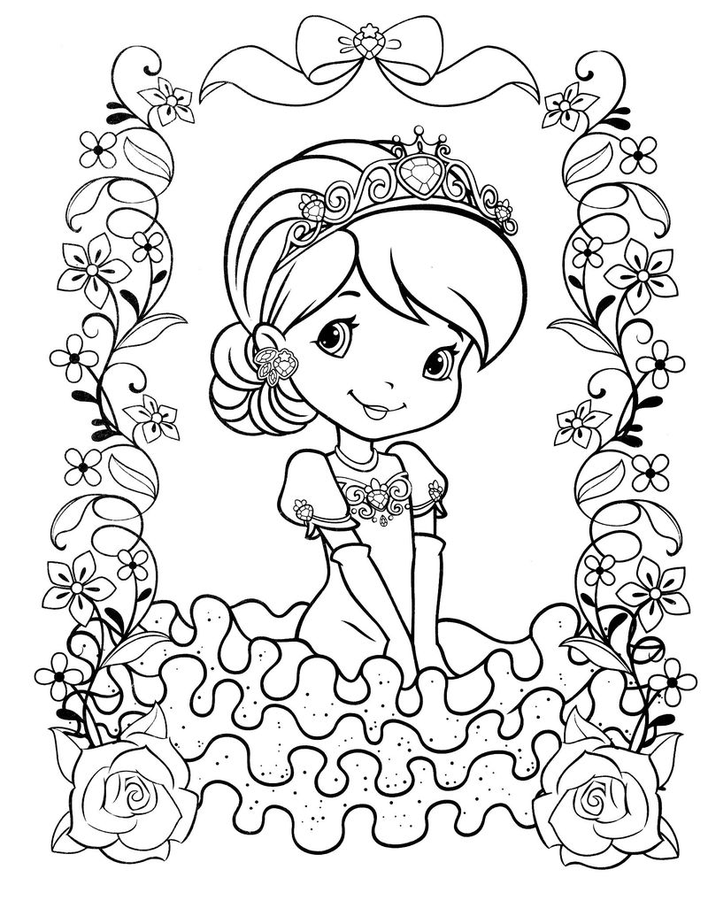 coloring pages of strawberry shortcake and friends