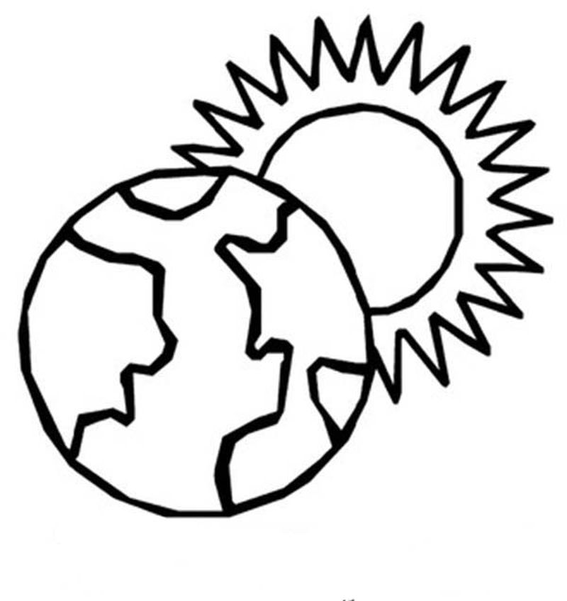 coloring pages of the earth parts