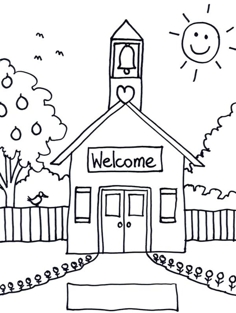 coloring pages school bus