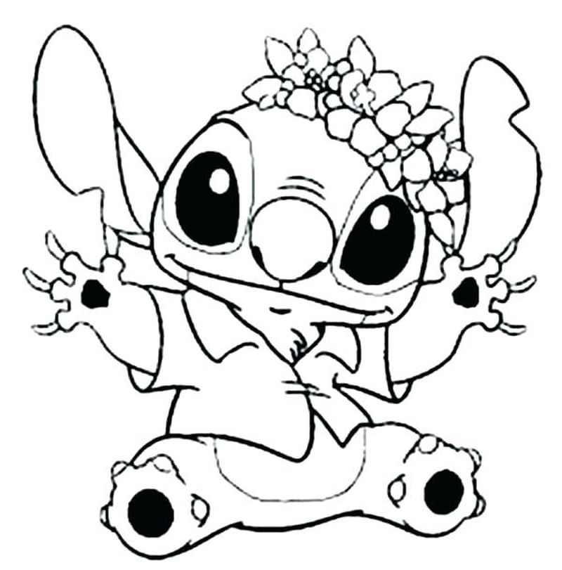 coloring pages stich