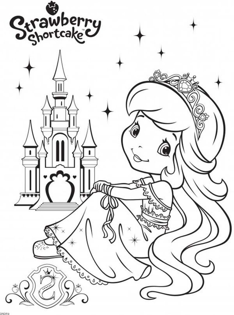 coloring pages strawberry shortcake christmas