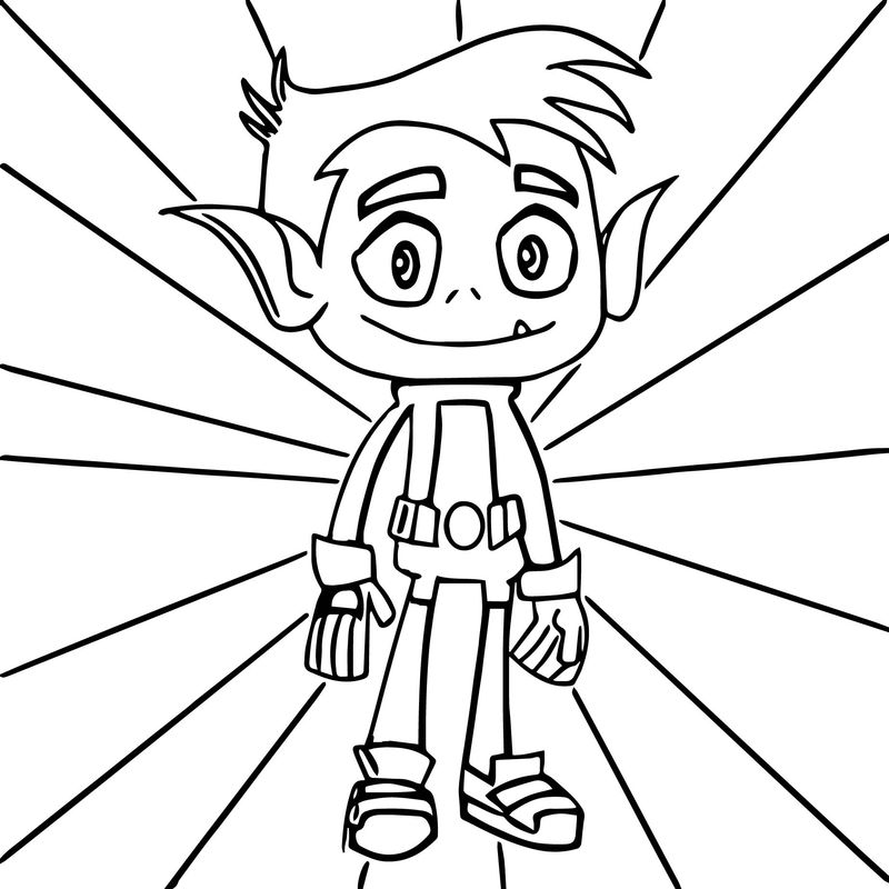 coloring pages teen titans Printable