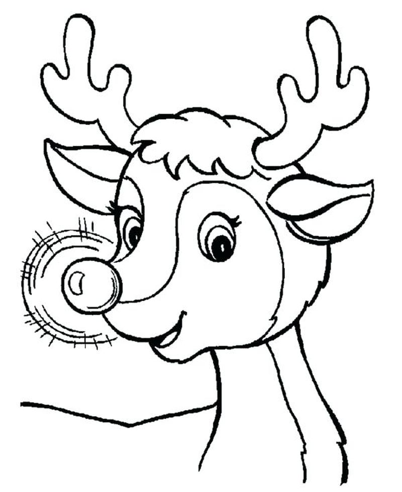 coloring pages to printable christmas rudolph