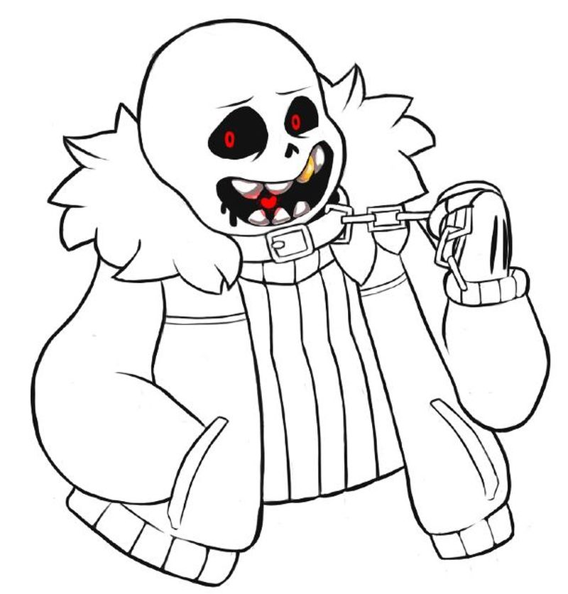 coloring pages undertale undyne