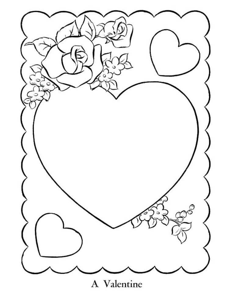 coloring pages valentines day Printable Printable