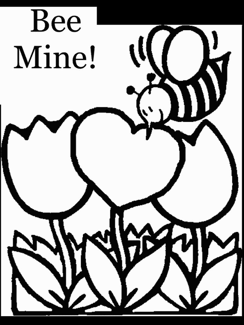 coloring pages valentines day printable