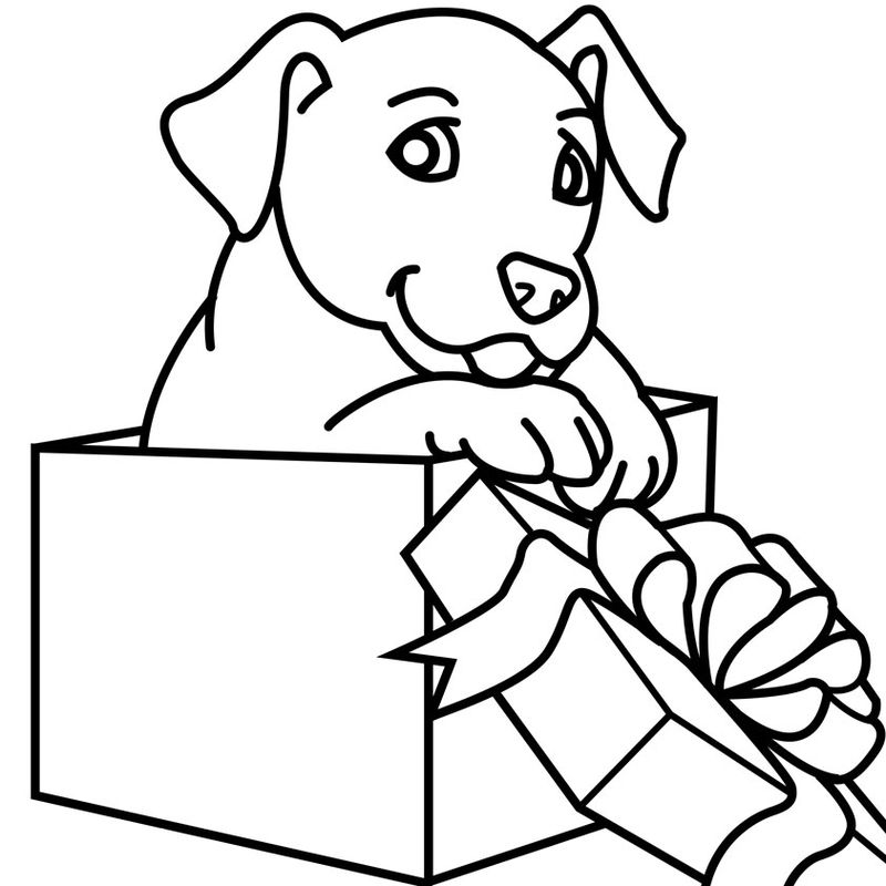 coloring pages with dogs Print