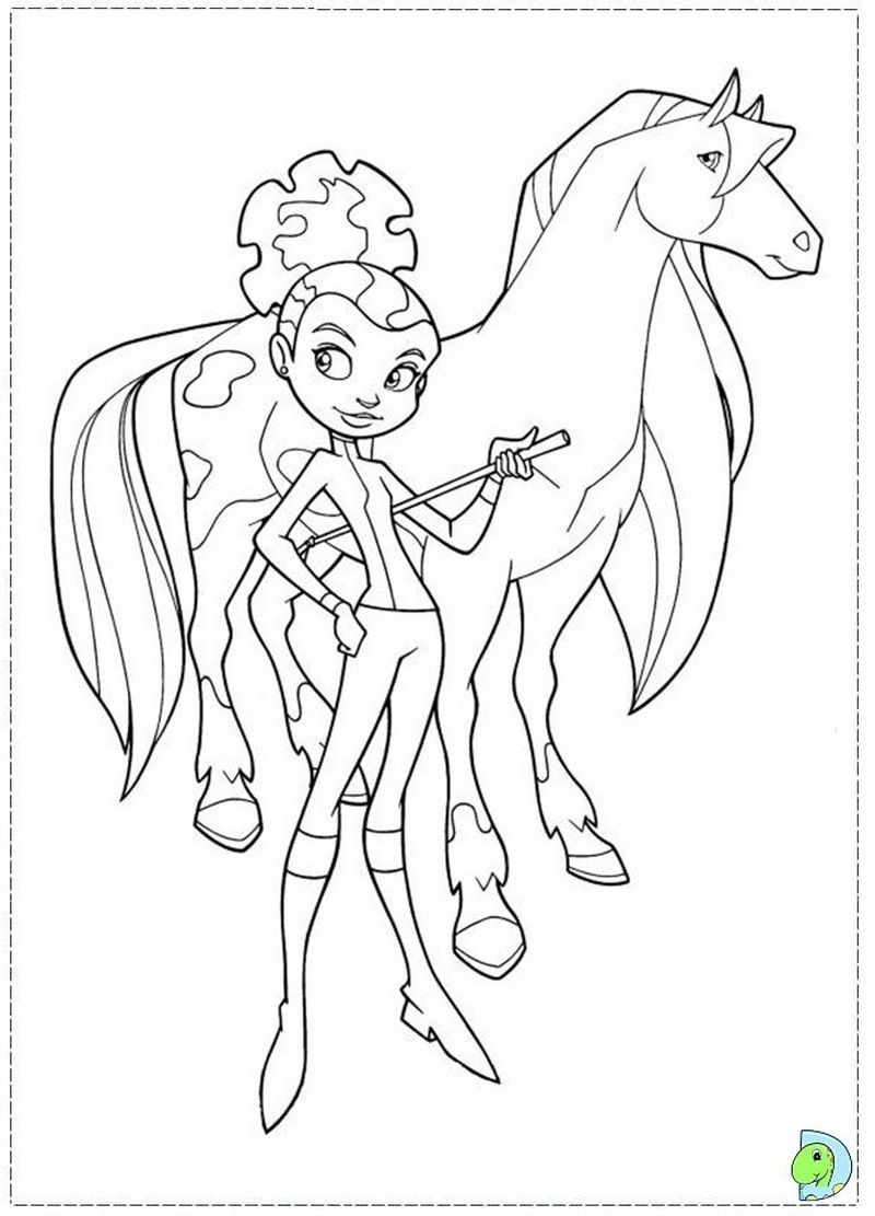coloring pic of horses