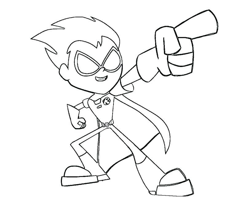 coloring teen titans Printable