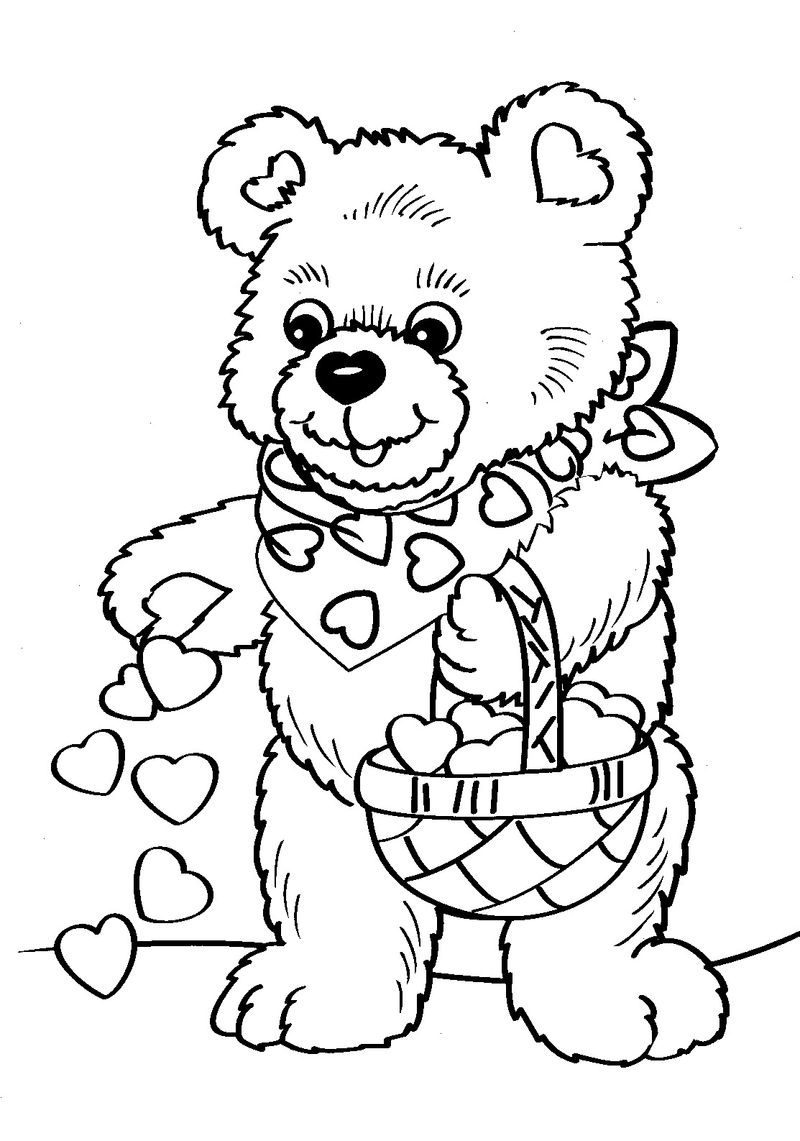 coloring valentines pages