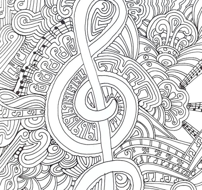 cute coloring pages music