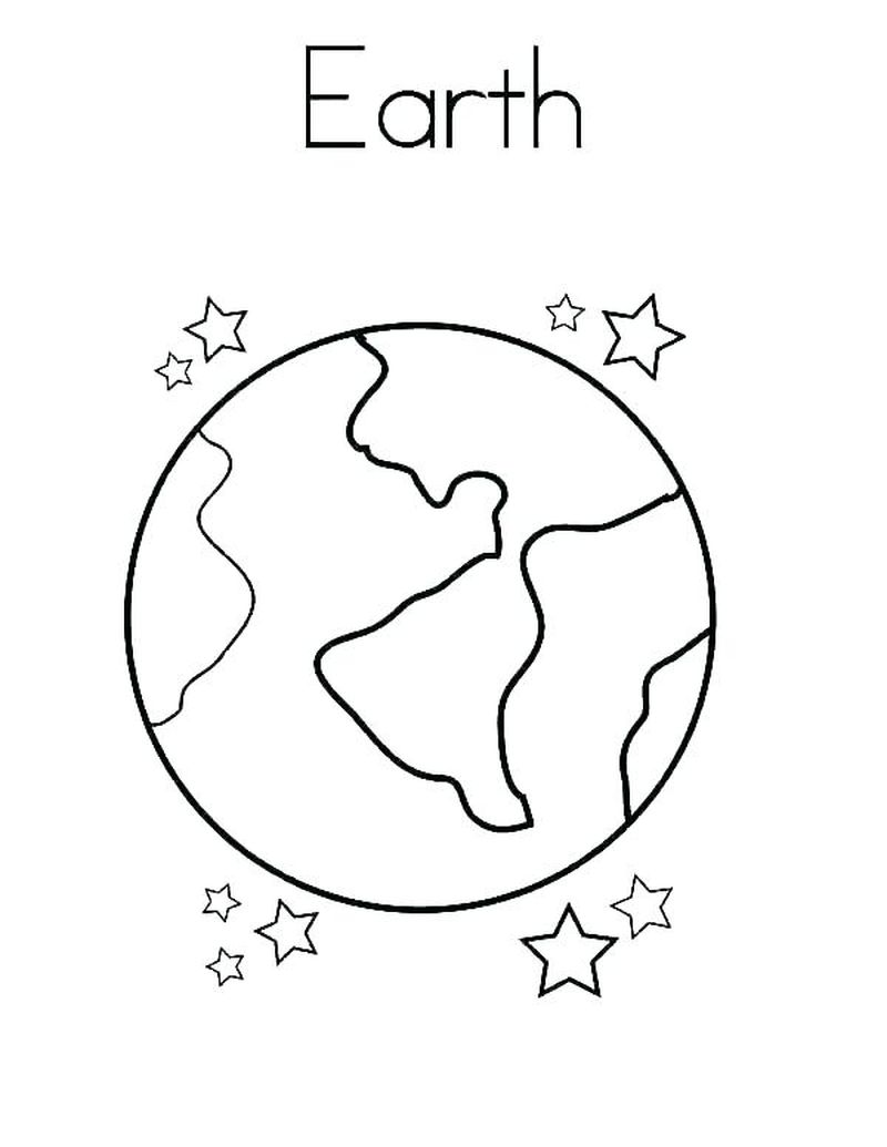 cute earth coloring pages