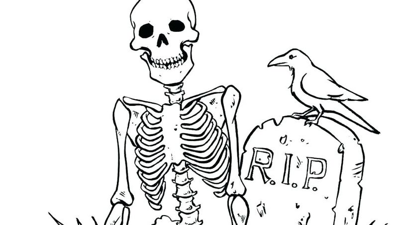 cute little skeleton coloring pages
