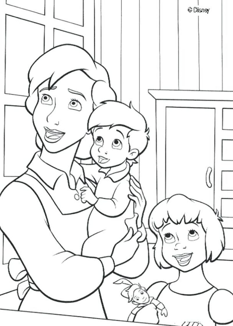 cute peter pan coloring pages