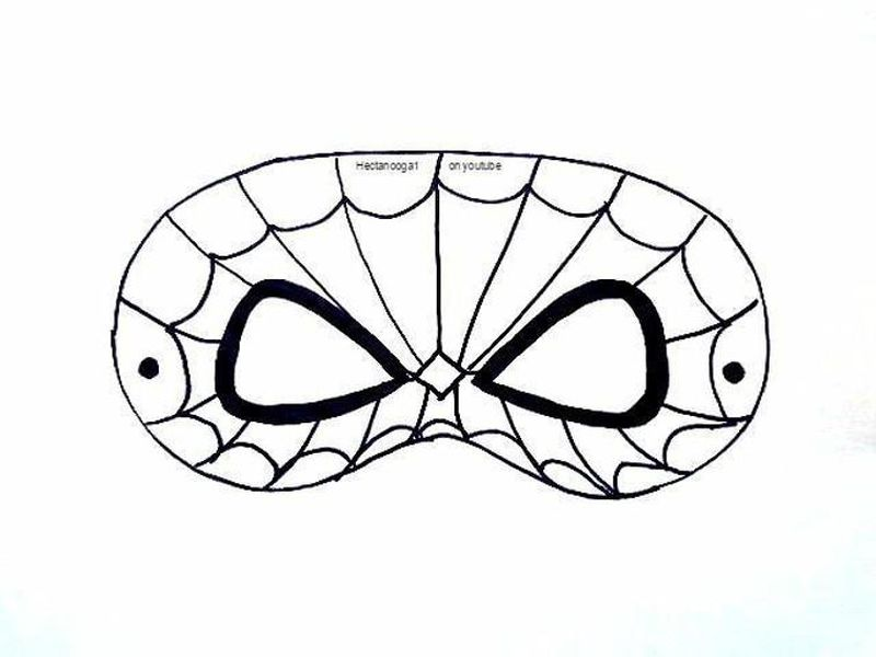 deadpool mask coloring page