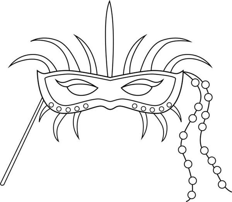 death mask coloring page