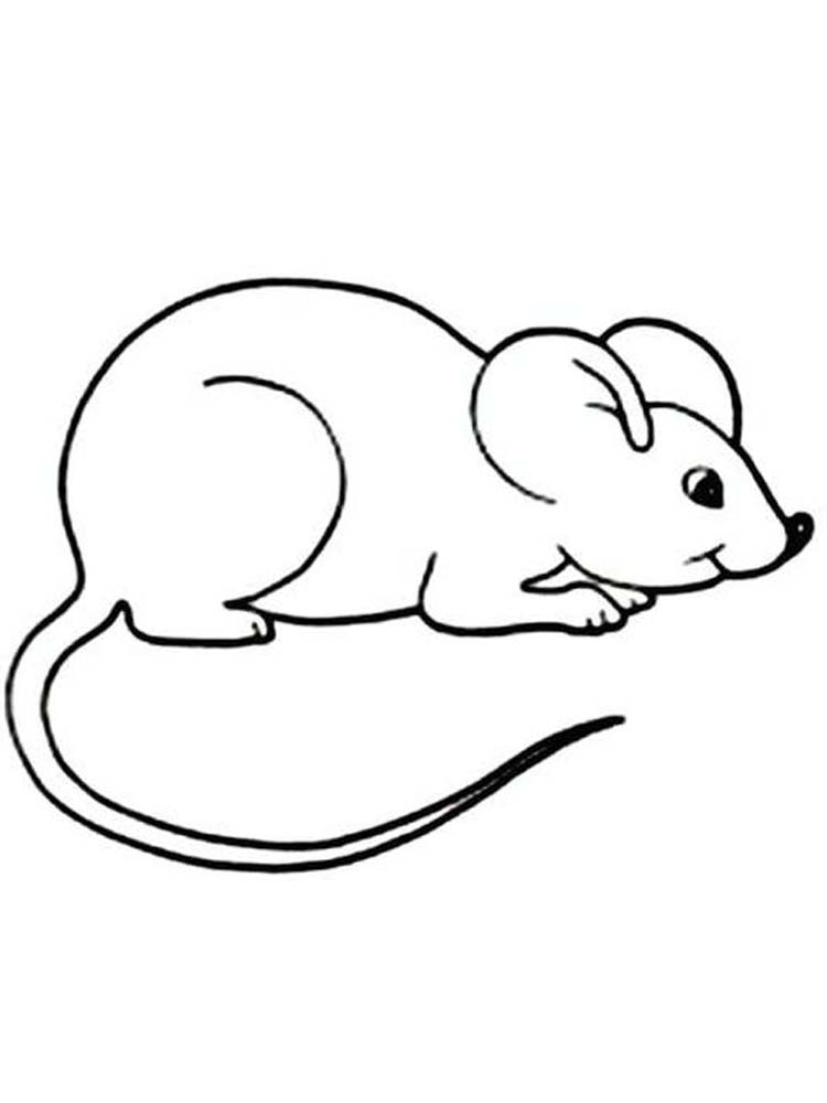 deer mouse coloring page printable