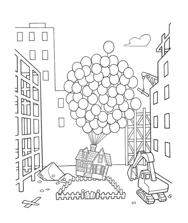 disney up coloring pages