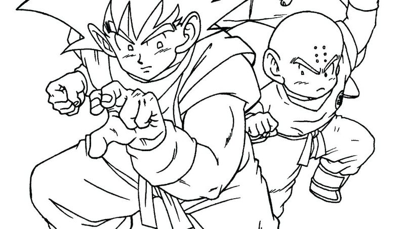 dragon ball super coloring pages Printable