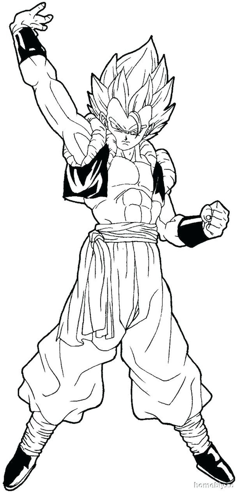 dragon ball z coloring pictures Printable