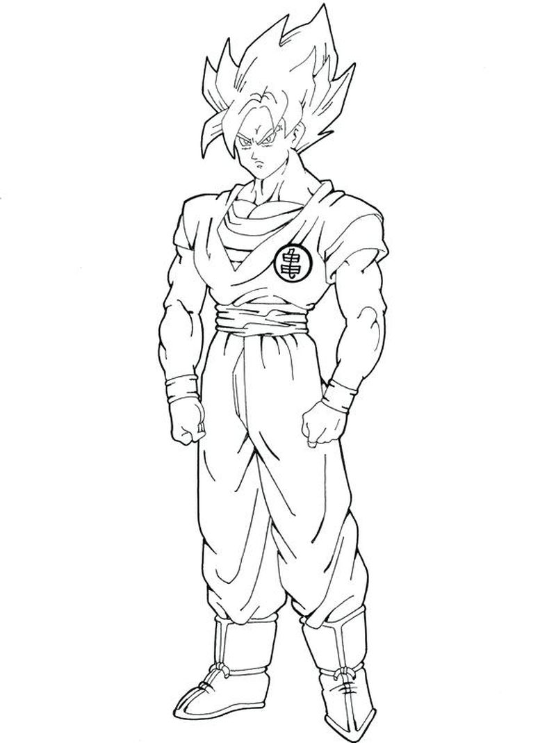 dragon ball z pictures to color Printable