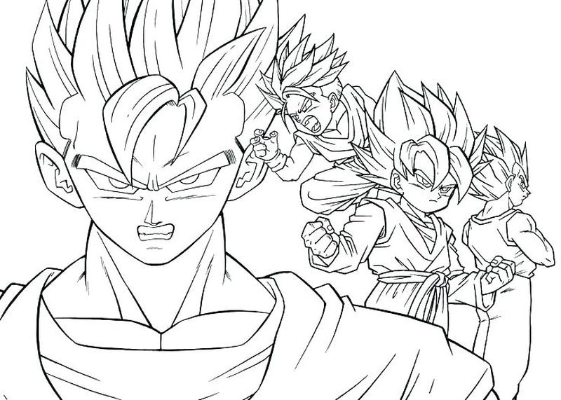 drawing of dragon ball z characters