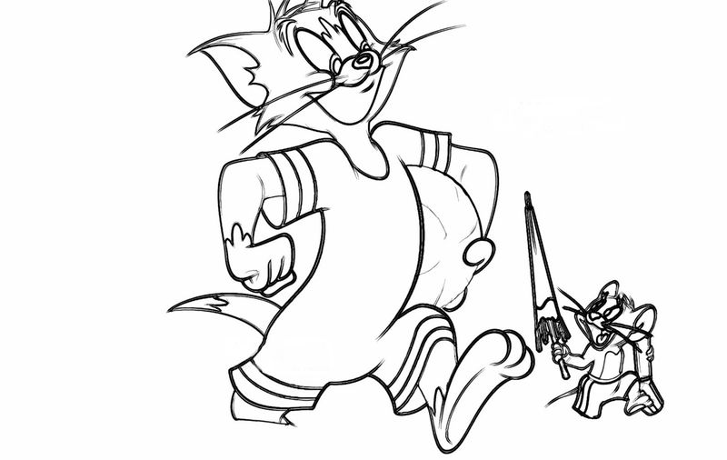 drawing tom and jerry