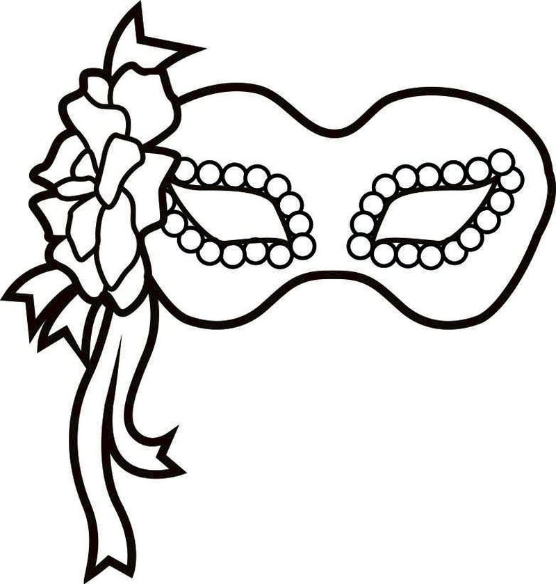 duck mask coloring page