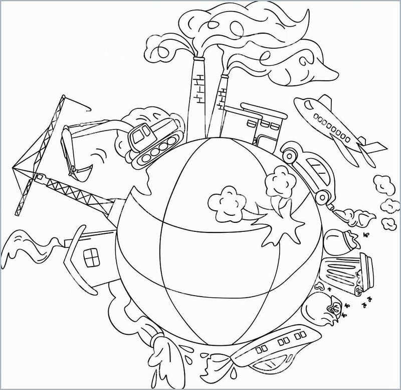 earth and thank you different languages coloring pages