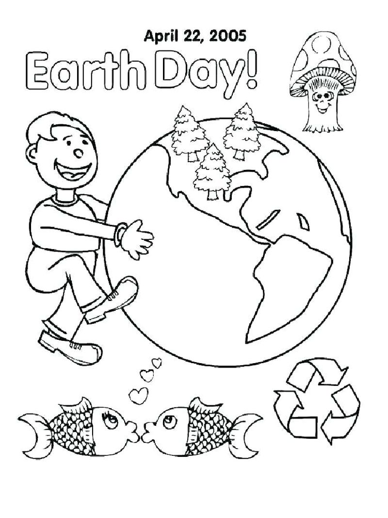 earth coloring pages for preschoolers