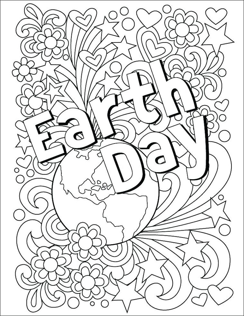 earth coloring pages free printablePrintable