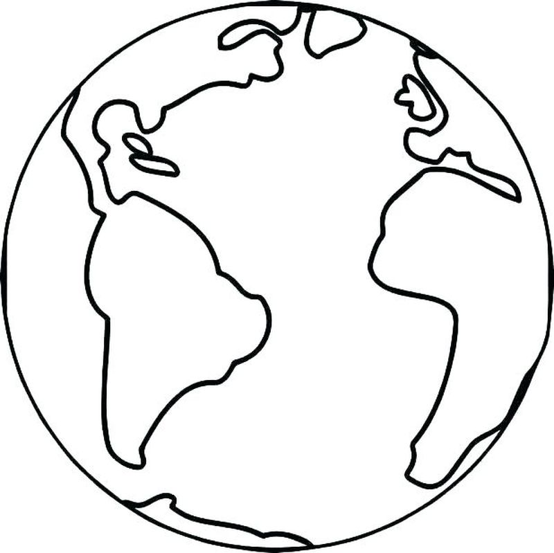 earth coloring pages free