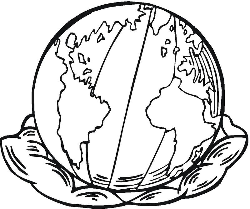 earth coloring pagesPrintable