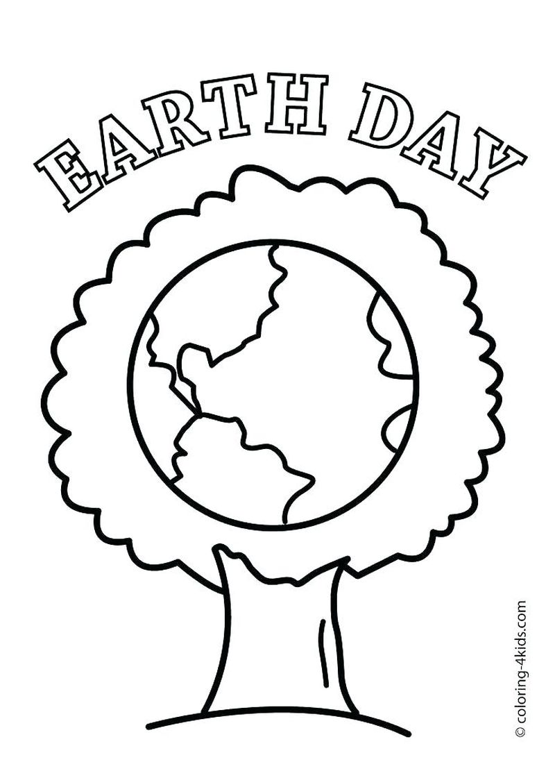 earth day coloring pages pdfPrintable