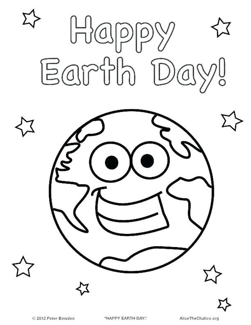 earth day kids coloring pages