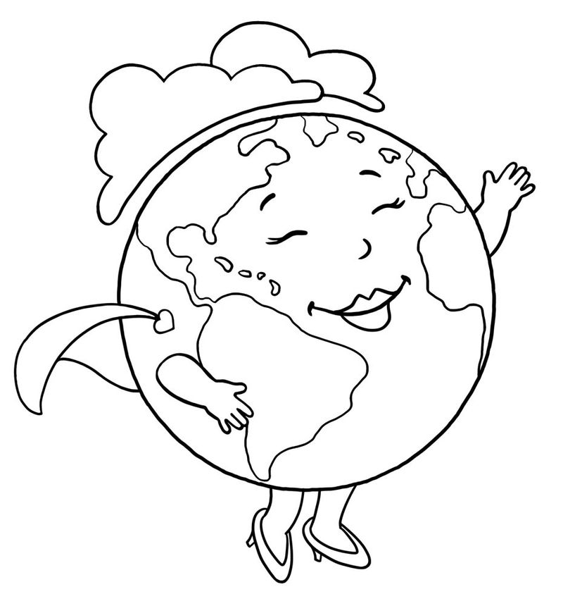 earth layers coloring pagesPrintable