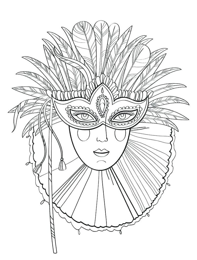 easter bunny mask coloring page
