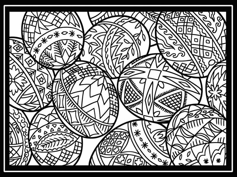 easter coloring pages egg