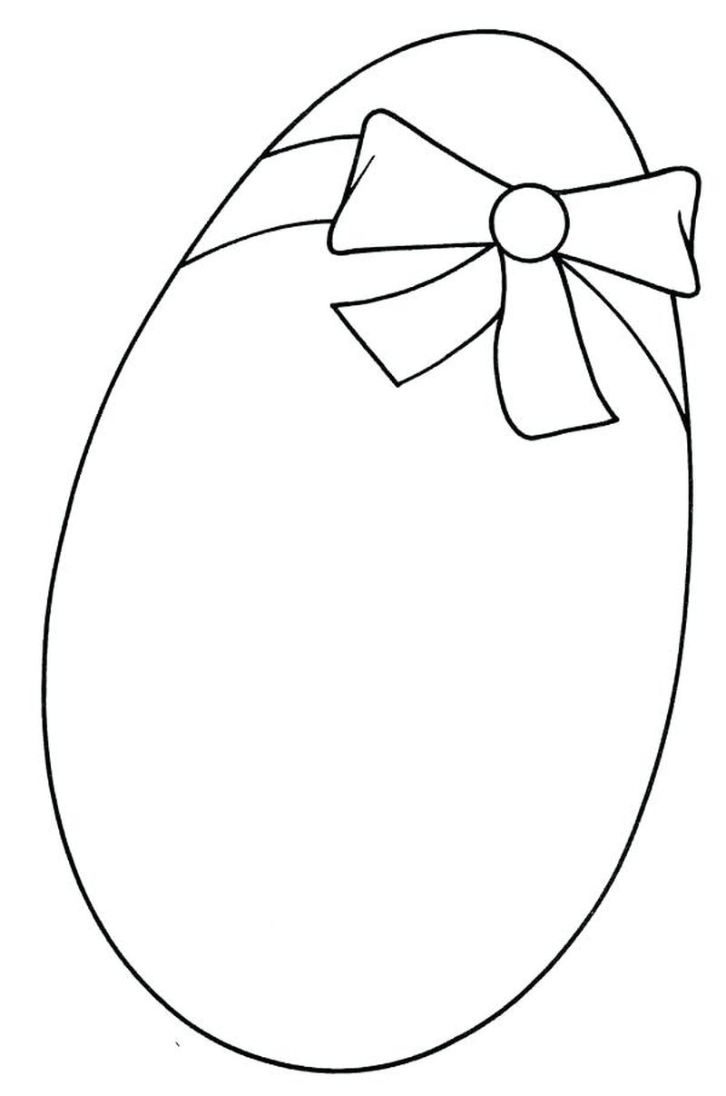 easter egg and bunny in grass coloring pages