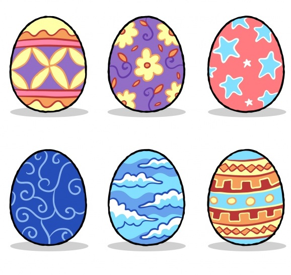easter egg colored draw