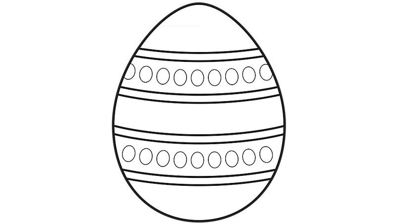 easter egg coloring book pages