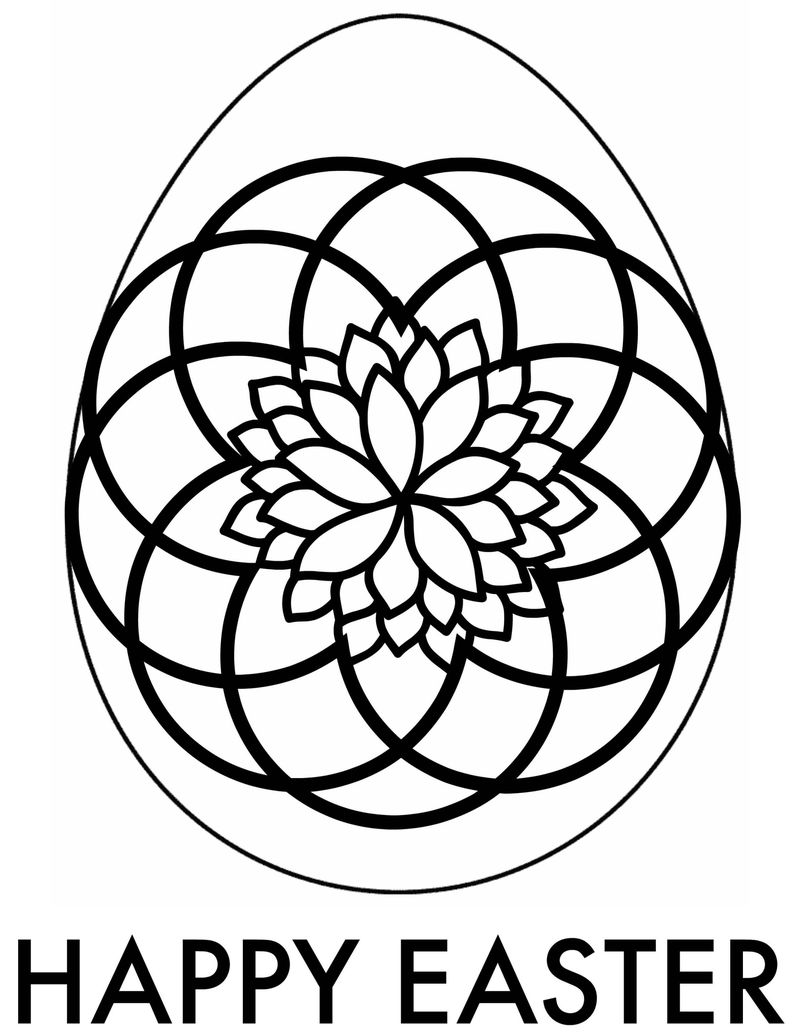 easter egg coloring in pages