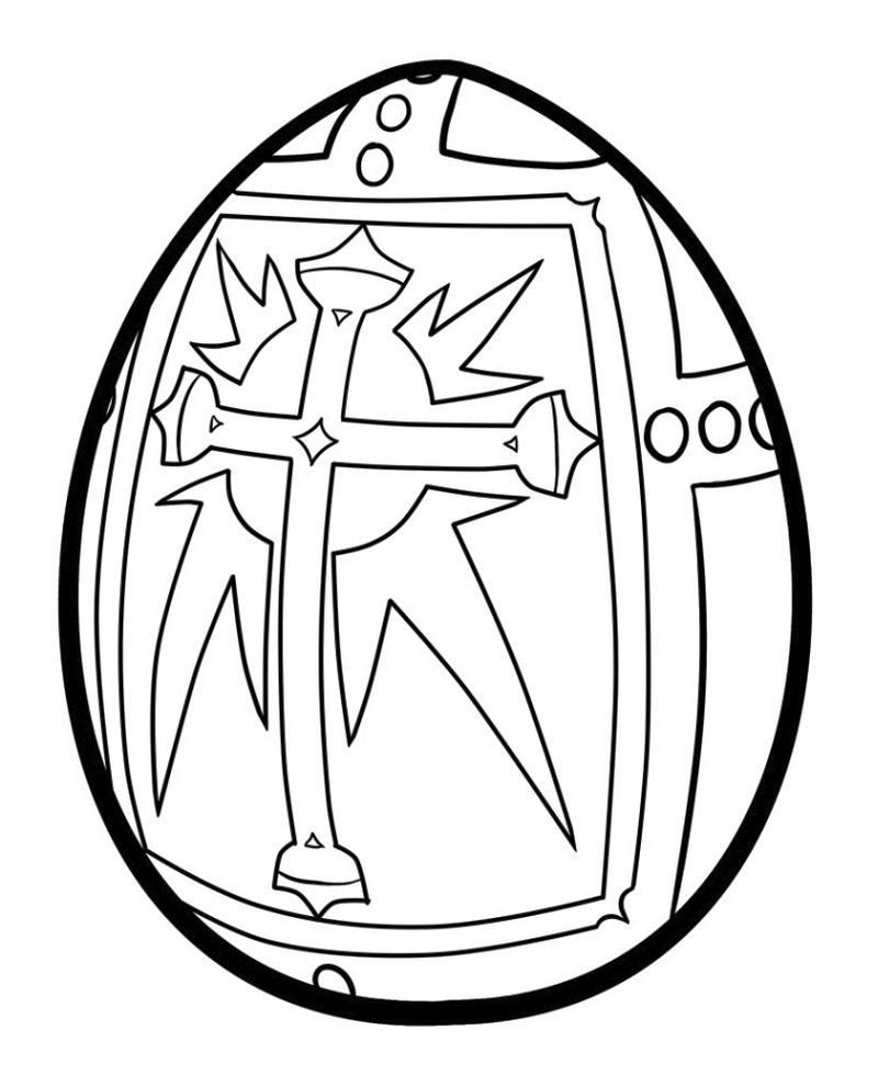 easter egg coloring pages boys